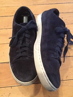 VINCE Navy Suede Shoes With Laces Size