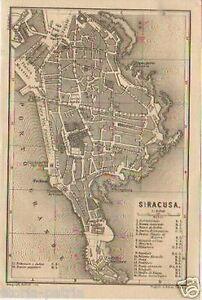 SICILIA-SIRACUSA-ANTICA-MAPPA-TOPOGRAFICA-STRADARIO-VIABILITA-039-CARTOGRAFIA