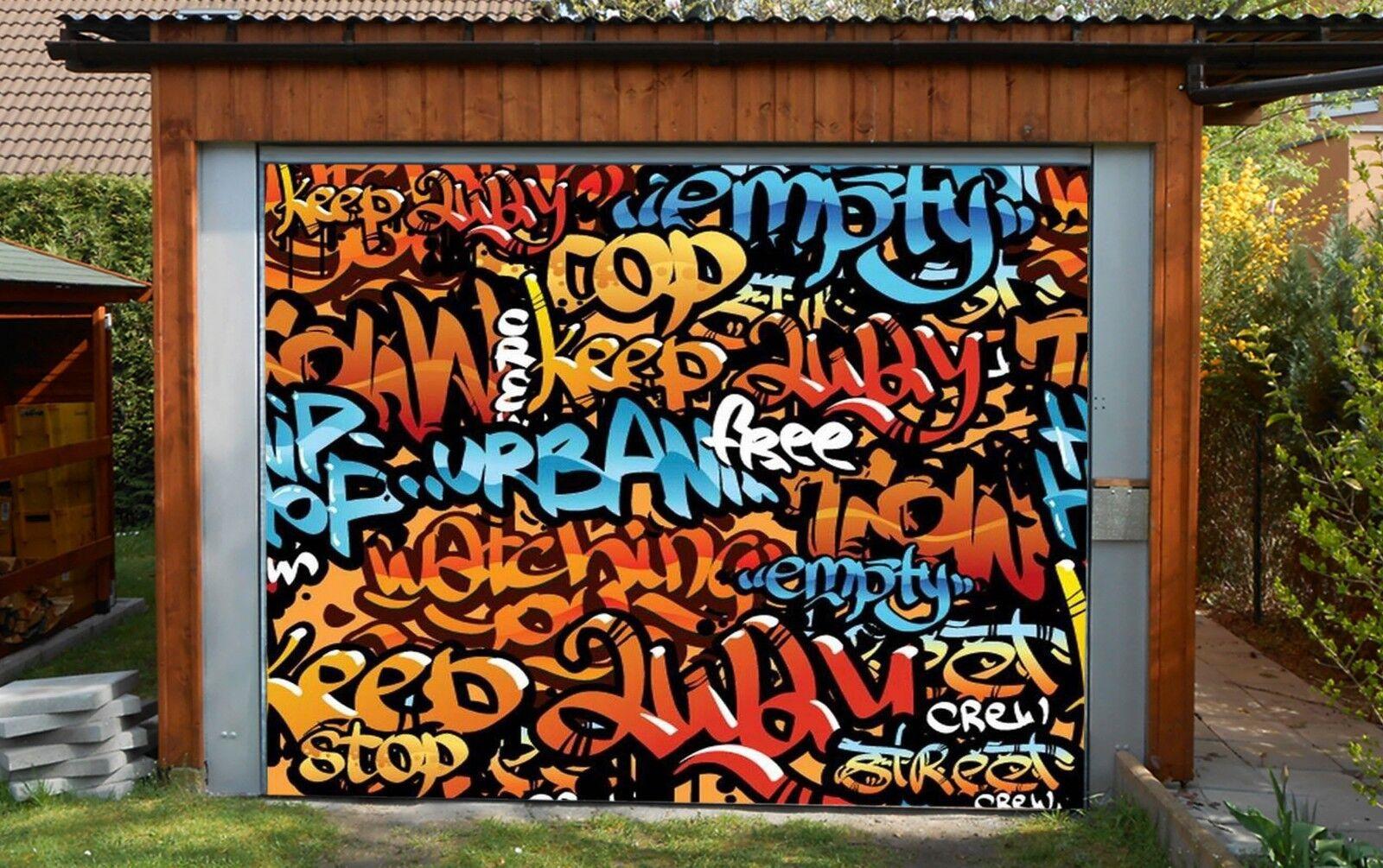 3D Art  Font  Wall 45 Garage Door Murals Wall Print Wall AJ WALLPAPER UK Lemon