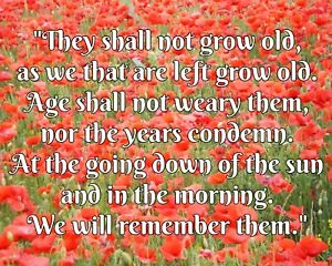 Details About They Shall Not Grow Old Poem Remembrance Day Poppy Poppies Metal Plaque Sign R86