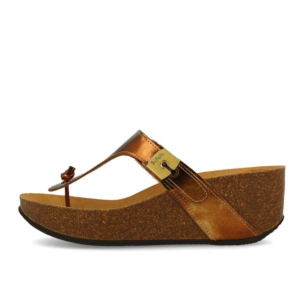 Scholl Edna 2.0 champagne zapatos sandalias tira dedo oro