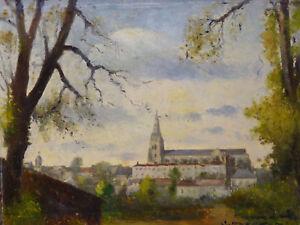 Georges-Frederic-MORVAN-1885-1968-ne-a-La-Rochelle-Vue-Cathedrale-de-Chartres