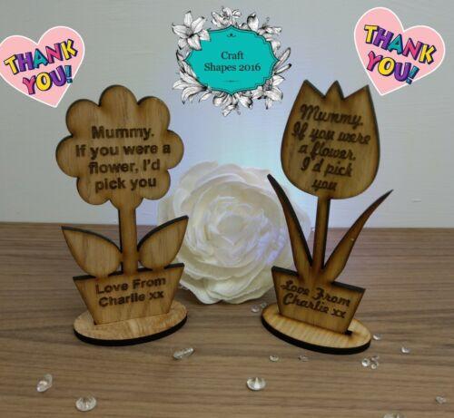 Personalised Mothers Day Gift Mothers Day Flower Mum Mummy Nana Grandma LOVE!