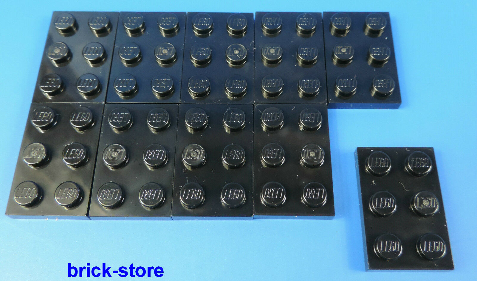 LEGO®  Nr 2x3 Platte Schwarz 302126 10 Stück