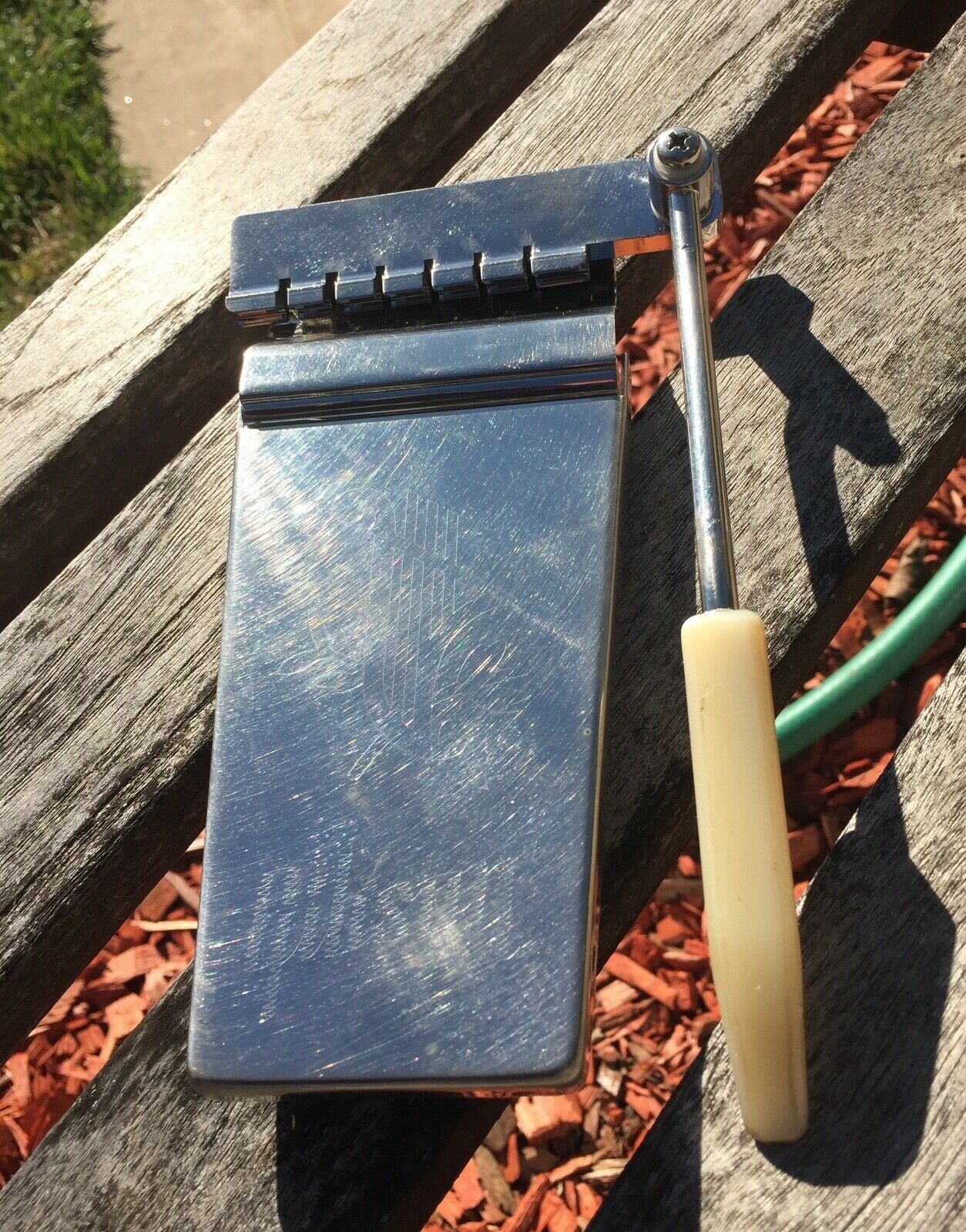 Gibson Long Vibrola Lyre Tremolo Tailpiece Nickel AGED worn in  JVGuitars