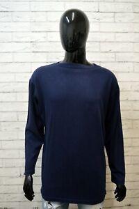 Felpa-Uomo-VALENTINO-Taglia-2XL-Maglione-Blu-Sweater-Man-Cardigan-Cotone-Casual