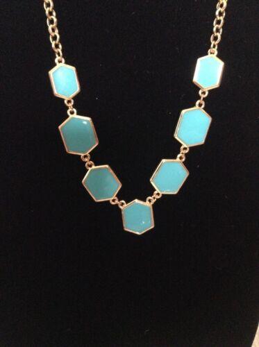 Designer Women/'s Enamel Hexagon Necklace