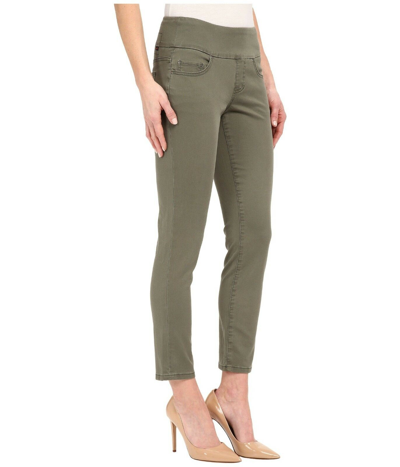 Jag Jeans Amelia Slim Ankle Pull on Pant Divine TWILL In Jungle Palm green NWT