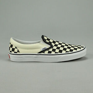 Details zu Vans Classic Slip On Checkerboard Black Trainers Shoes UK 4,5,6,7,8,9,10,11,12