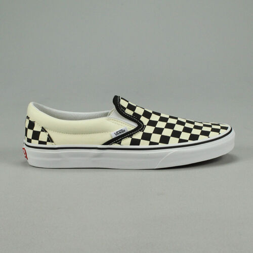 Vans Classic Slip-On Checkerboard Black Trainers Shoes UK 4,5,6,7,8,9,10,11,12