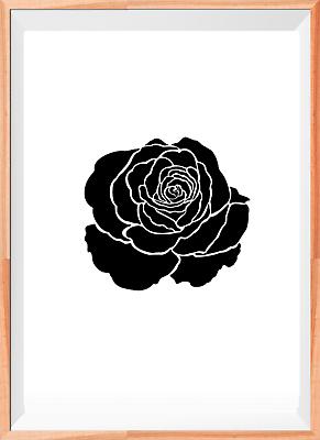 Rosa Flor Floral A5 A4 A3 aerógrafo de plantilla Reutilizable de Mylar