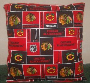 Blackhawks-Pillow-NHL-Chicago-Hockey-Black-Hawks-Handmade-In-USA
