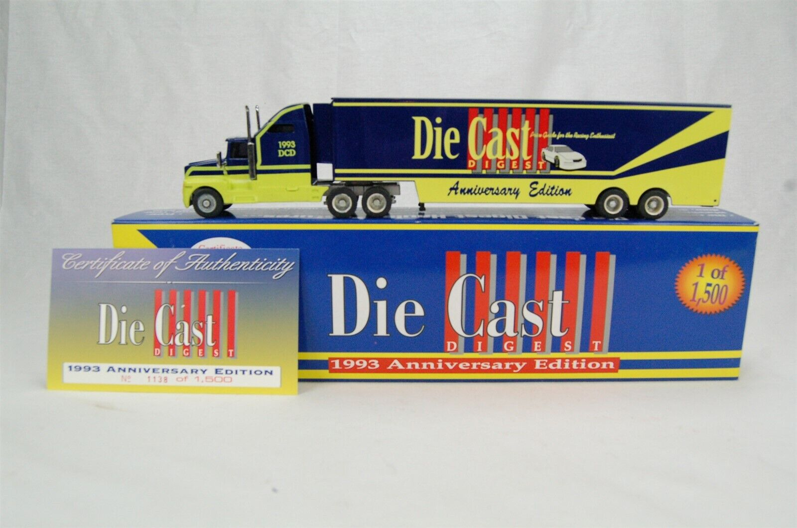 Action Die Cast Digest 1993 of 1500 Hauler 1 64 Scale Anniversary Edition