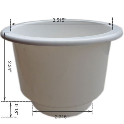 2 Pieces White Plastic Cup Drink Holder Boat RV  Drinking Holder Perfect Selling