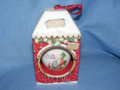 Me to You Bear Christmas Tree Decoration Bauble Best Mum G01Q6500 Tatty Teddy