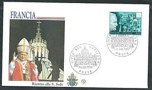 100% Vrai 1997 Vaticano Viaggi Del Papa Ritorno A Roma Dalla Francia - Sv9