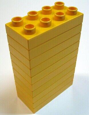 Lego Yellow 2x4 Bricks Quantity 10