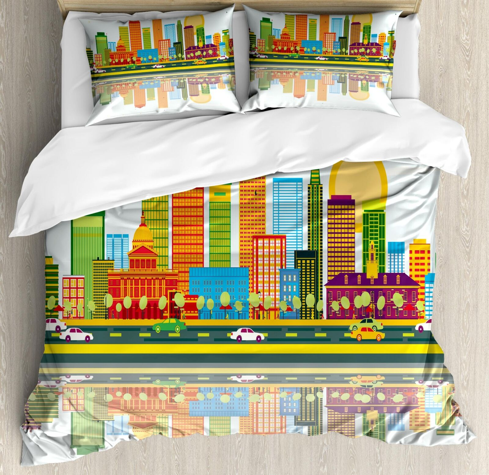 Boston Duvet Cover Set Twin Queen King Größes with Pillow Shams Bedding