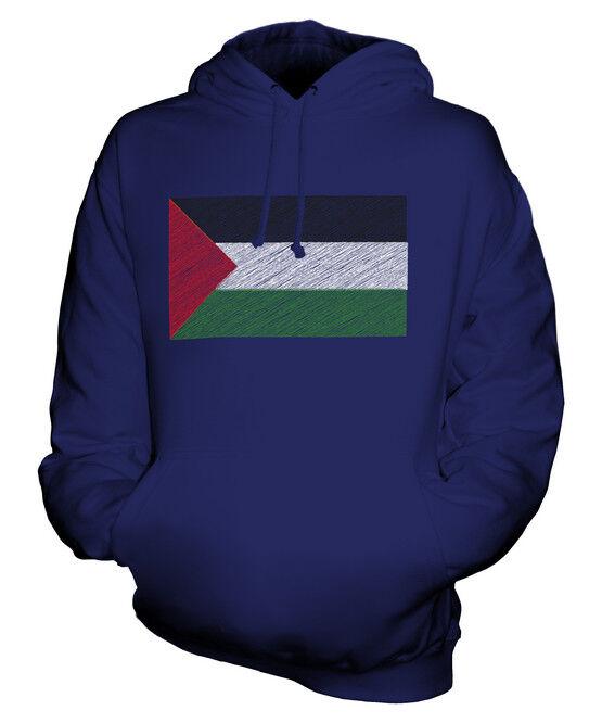 PALESTINE KRITZELTE FLAGGE UNISEX KAPUZENPULLOVER HOODIE PULLI HERREN DAMEN