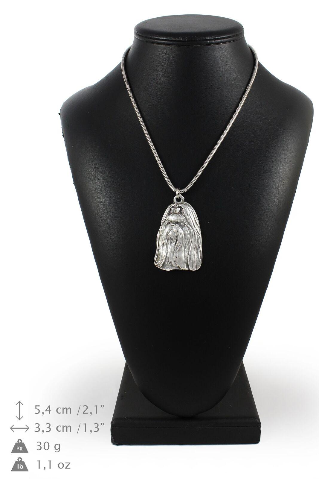 Shih Tzu type 2 - collier en Silber plaqué sur une chaîne en Silber Art Dog FR