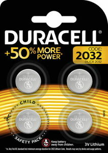 4-Duracell-CR-2032-DL-2032-Lithium-Knopfzelle-Batterien-im-4er-Blister