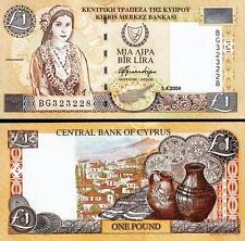 CYPRUS 1 POUND 1-04-2004 UNC P.60d