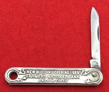 Vintage THE W&H CO NEWARK N.J. U.S.A. Metal Ad Watch Fob Pocket Knife c.1925