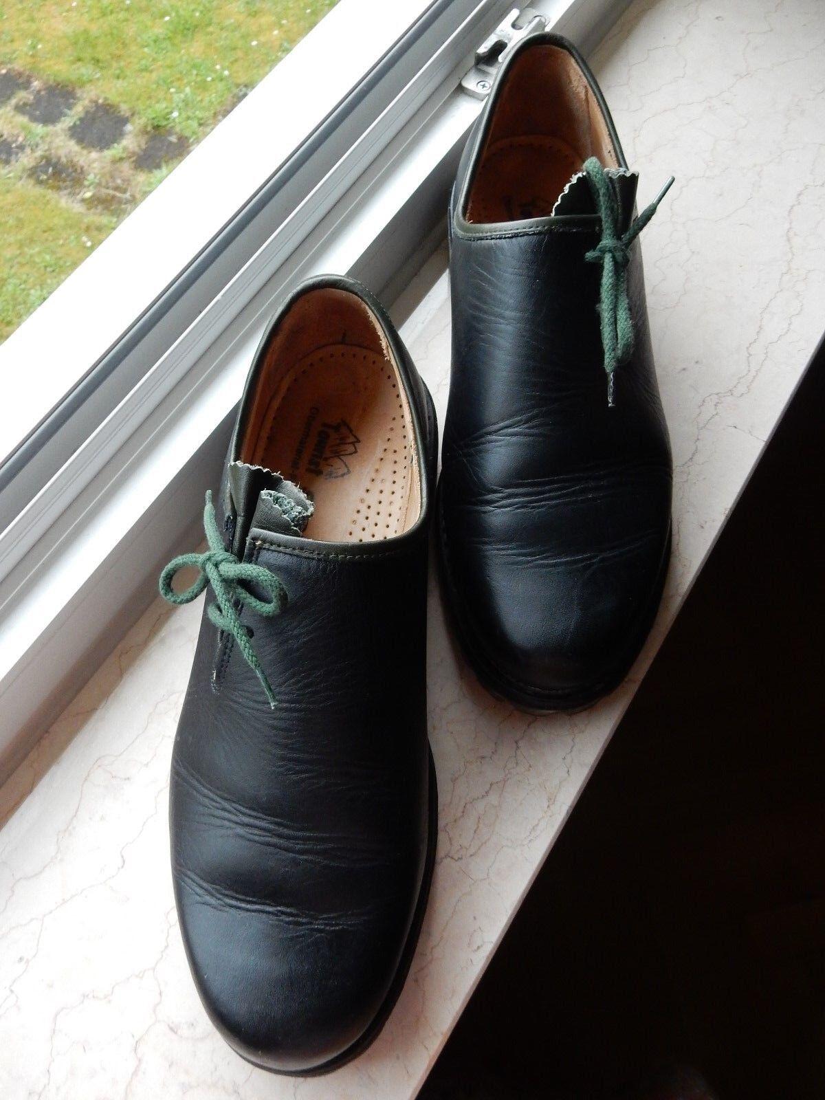Trachten schwarz/d´grün Schapuro Schnür Schuh Leder schwarz/d´grün Trachten Oktoberfest, wie NEU 9,5 6d5d2d