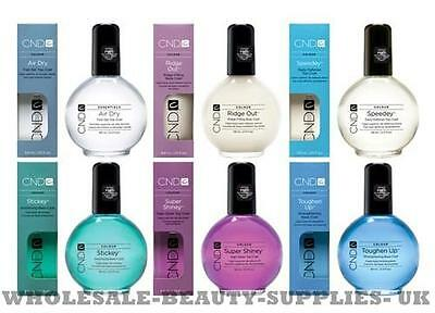 CND SOLAR OIL NAIL TOP & BASE COAT  SPEEDEY, STICKEY, SUPER SHINEY +  Rescue RXx
