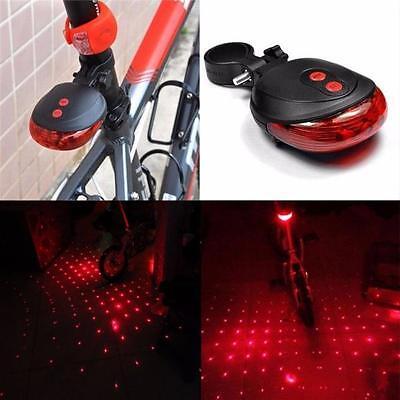 Laser Luces traseras 2 Laser+5 LED Intermitente Luz Bicicleta Parte Seguridad