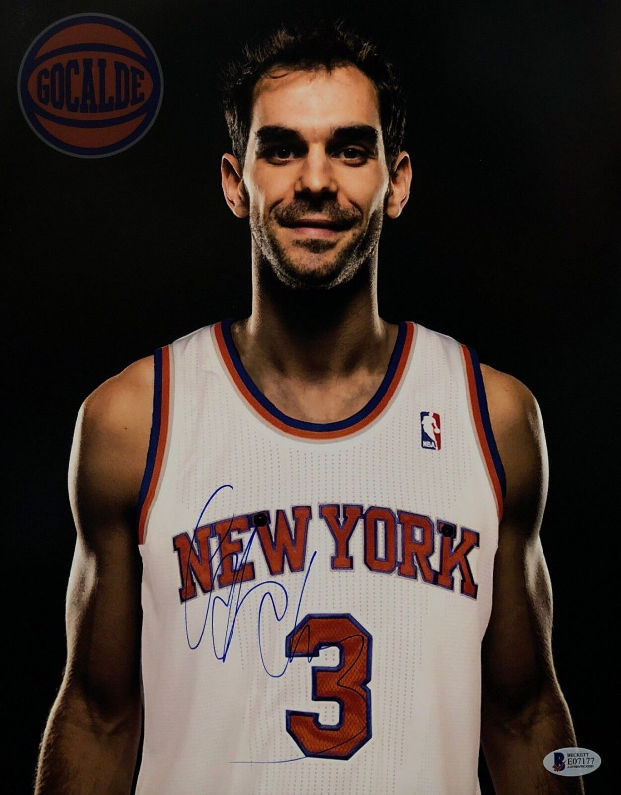 Jose Calderon Signed New York Knicks 11x14 Basketball Photo Beckett BAS E07177