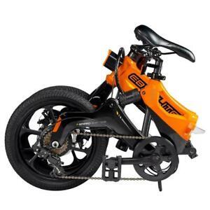 Swagtron EB7 Plus Orange Electric Bike W/ 7 Speed Gear Shift & Removable Battery