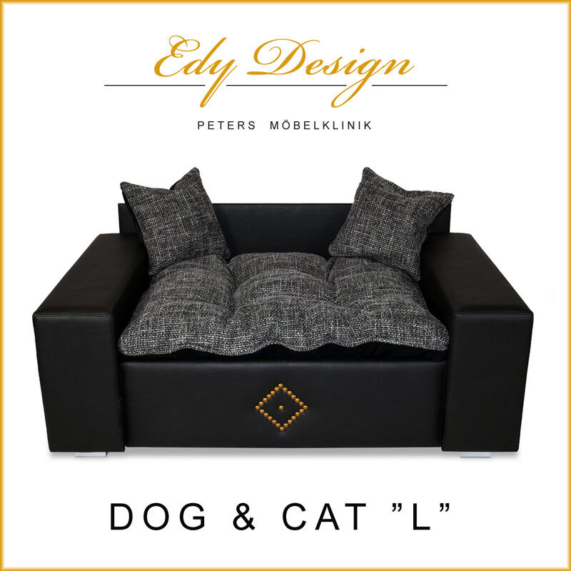 Hundesofa Hundebett Katzenbett  Hunde Sofa DOG & CAT -NEU- Kunstleder L