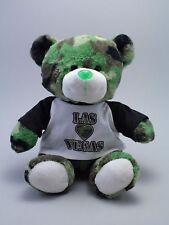 Green, Camo Cuties, Plush Stuffed Teddy Bear, w/ Las Vegas T-Shirt