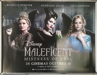 Cinema Poster Maleficent Mistress Of Evil 2019 Main Quad Angelina Jolie Ebay