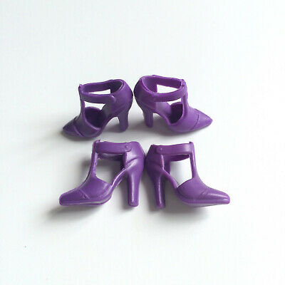 40 Pairs High Heels Shoes Sandals Boots Barbie Doll Toy Accessories Girl Gift 29
