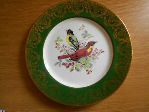 Pretty-Continental-Cabinet-Plate-with-Bird-Decoration
