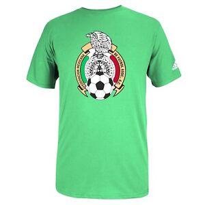 fc429c9e8 Adidas Mexico Futbol Crest World Cup Soccer Tee T-Shirt Men s Size ...