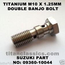 RGV250SP  (VJ23) TITANIUM M10 x 1.25 double banjo brake bolt