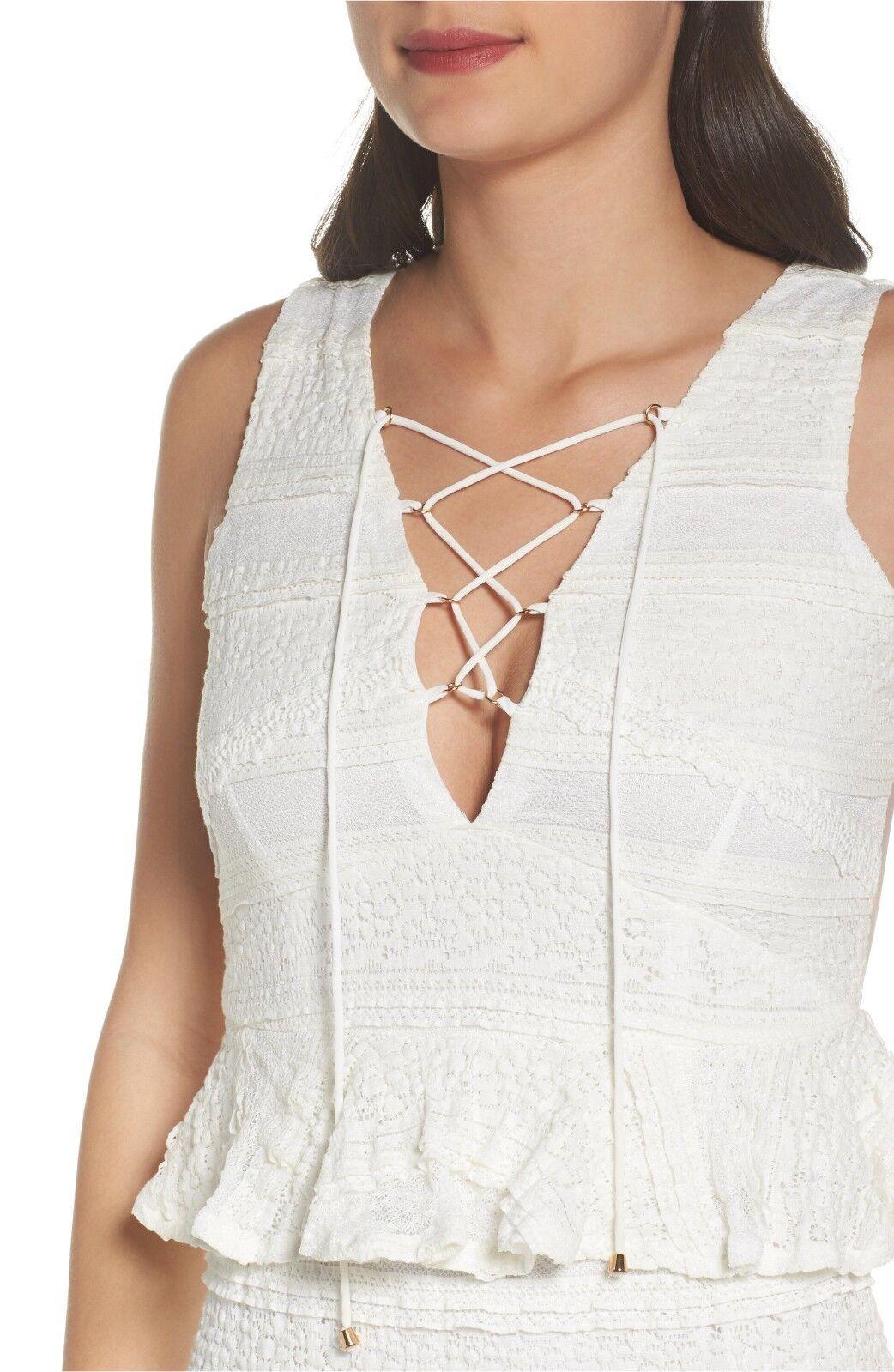 250 FOXIEDOX Makayla Peplum Peplum Peplum Lace Maxi Dress BOHEMIAN FEMININE WHITE SEXY CLASSY 231288