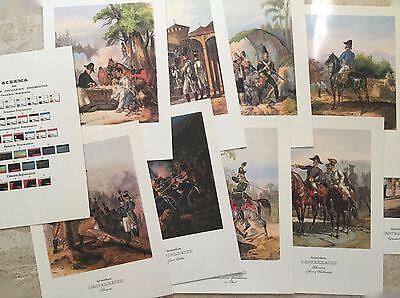 10 Steindrucke Kaiserreich Österreich - Konvolut, Militaria, Regiment, Offiziere Blut NäHren Und Geist Einstellen