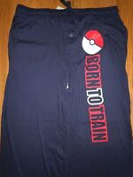 Mens Nintendo Pokemon Go Poke Ball Trainer Lounge Pants Pajamas Xxl 2xl Navy