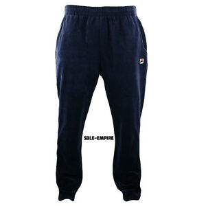 Fila-Velour-Slim-Fit-Pants-Mens-Navy-Blue-New-with-tags-LM163SJ2-412