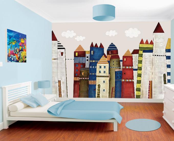 3D House Farbe 533 Wallpaper Murals Wall Print Wallpaper Mural AJ WALL AU Kyra
