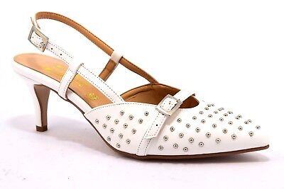 Scarpe Sposa Decolte E Chanel.Divine Follie 4032 Bianco Chanel Borchie Decollete Stiletto Donna