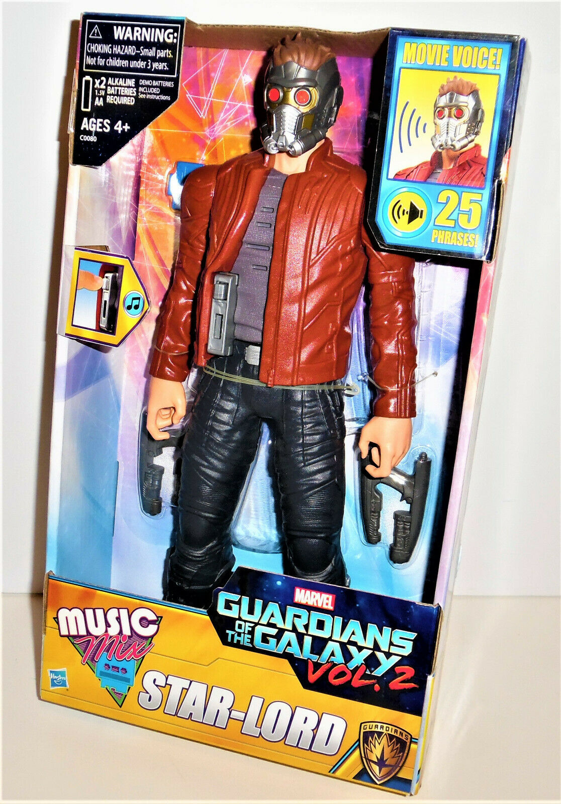 """MARVEL Guardians of the Galaxy 12/"""" STAR LORD Music Mix TALKING Figure Toy NEW"""