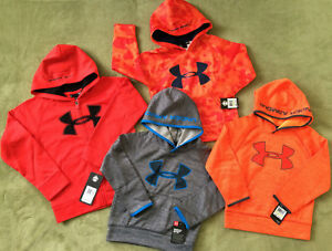 d5e11dc4006d NWT Under Armour Boys  Logo Hoodie Pull Over Zip Up 2 Piece Set New ...