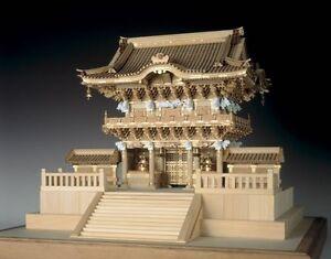 Woody JOE wooden 1/50 Nikko Toshogu Yomeimon Gate wooden Mini Model Kit Japan