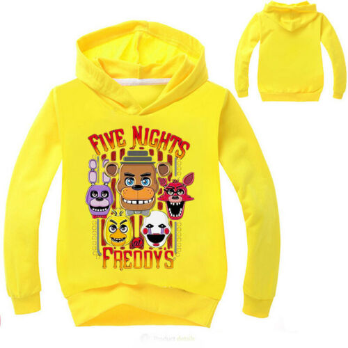 Boys Girls Five night at Freddy Kids Spring Fall Hoodies Sweatshirts Pullover