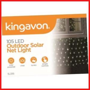 Kingavon-LED-Outdoor-Solar-Net-Light-Black